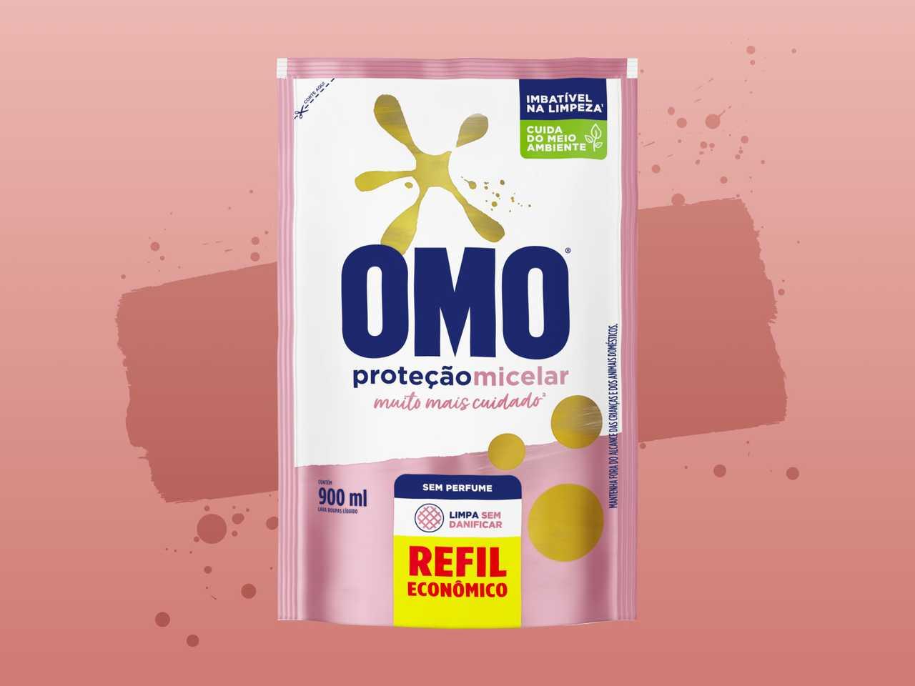Sabão Líquido OMO Proteção Micelar banner de produto