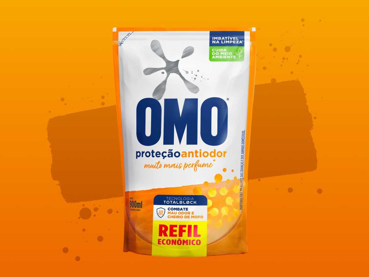 Sabão Líquido OMO Sports banner de produto